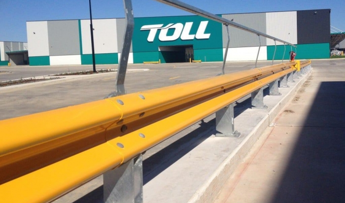 rhino-stop type 1 warehouse guardrail