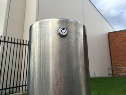 lock and removable bollard safety barrier