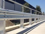 Rigid Post Safety Barriers Combined with  W Beam Guardrail