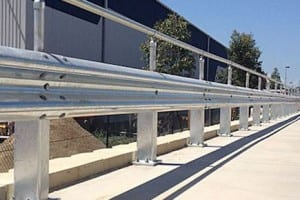 rigid post systems on rhino stop safety barrier