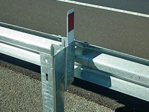 w beam guardrail with c post