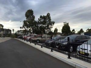 car park pedestrian fencing