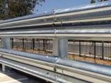 Rigid Post Safety Barriers with Double Rail W Beam Configuration