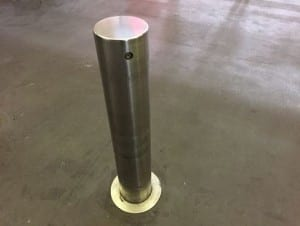 lock and removable bollards safety barrier
