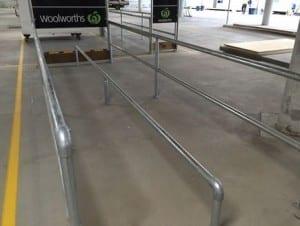 single rail handrail