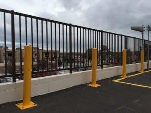 base plated bollard car park safety barrier