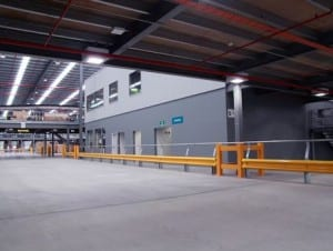 warehouse safety barrier with rhino stop type 3