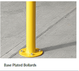 Base Plated Bollards for Car Parking Barrier Systems