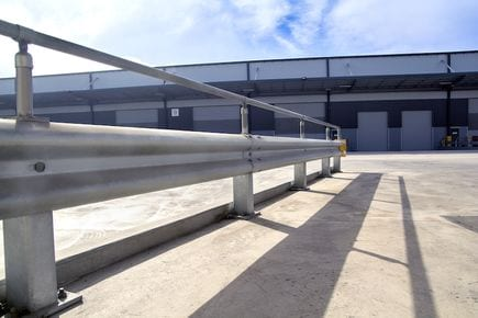 rigid post systems warehouse safety barrier