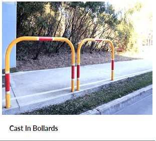 Cast In Bollards for Car Parking Barrier Systems