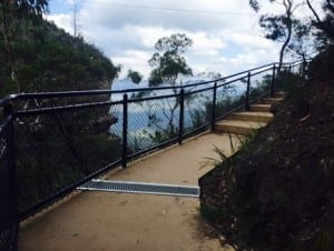 handrail with screen fall protection