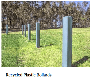 Recycled Plastic Bollards for Car Parking Barrier Systems