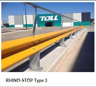 RHINO STOP Type 3 Parking Barrier