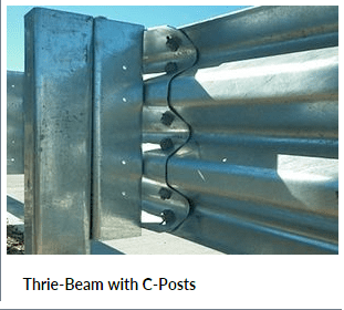 Thrie-Beam Guard Rails