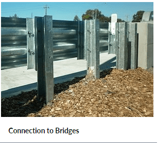 Connection to Bridges Crash Barriers