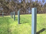 recycled plastic bollards for light security fencing