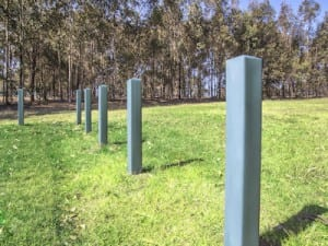 plastic recycled bollard safety barrier