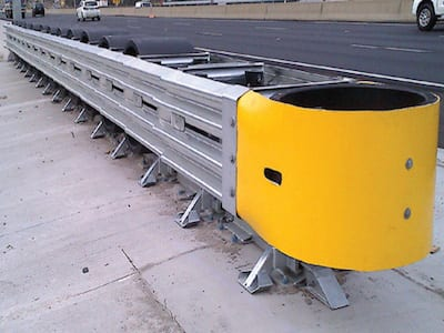 crash cushions crash barrier