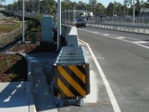 road safety crash cushion barrier