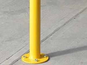 base plated bollard safety barrier