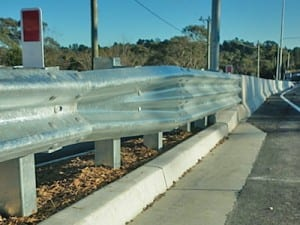 connection to bridges crash barrier