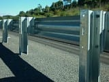 W Beam Guardrail Barrier with C Post