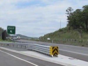 road crash cushion barrier
