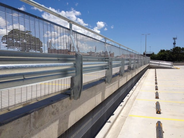 rhino stop type 4 car park safety barrier project at canterbury hurlestone park