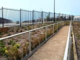 Single Rail Handrail on an Extended Pathway