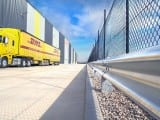 W Beam Guardrail Installation Project at DHL