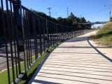 In-ground Pedestrian Fencing