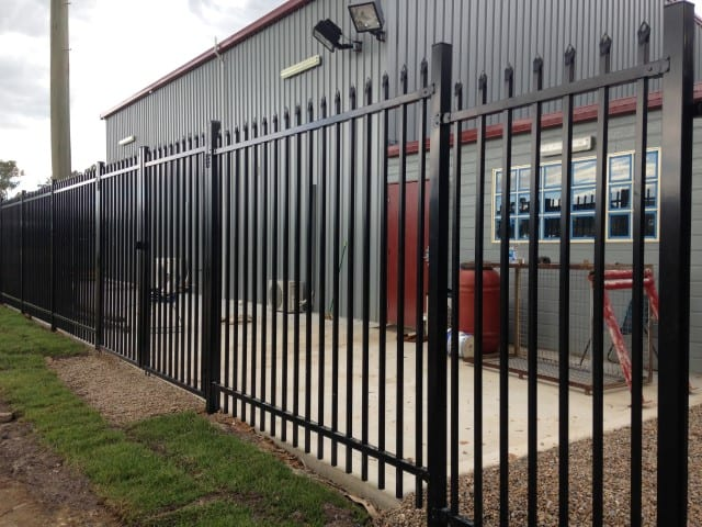 crimped spear security fencing