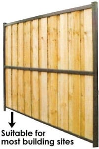 lapped capped fencing suitable for most building sites
