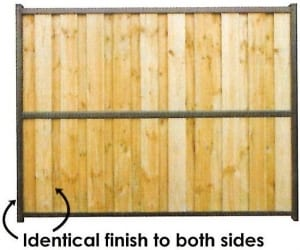 paling fence with identical finish to both sides