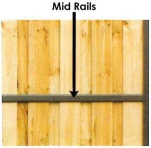 mid rail paling fence
