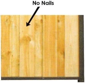 no nails paling fence