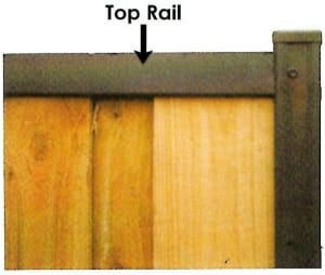 top rail paling fence