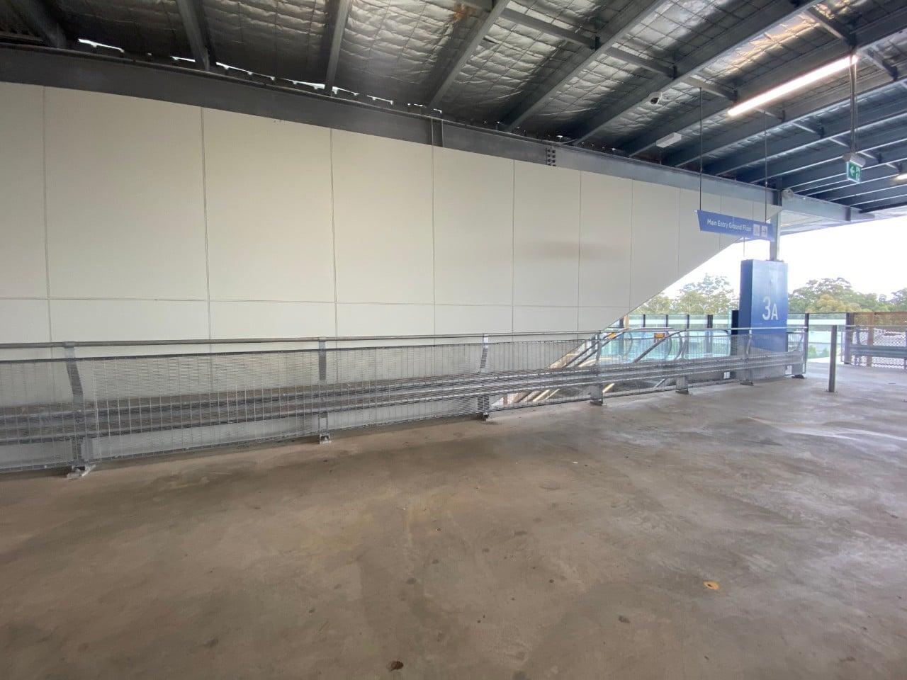 rhino stop type 4 safety barrier installation at rooty hill car park