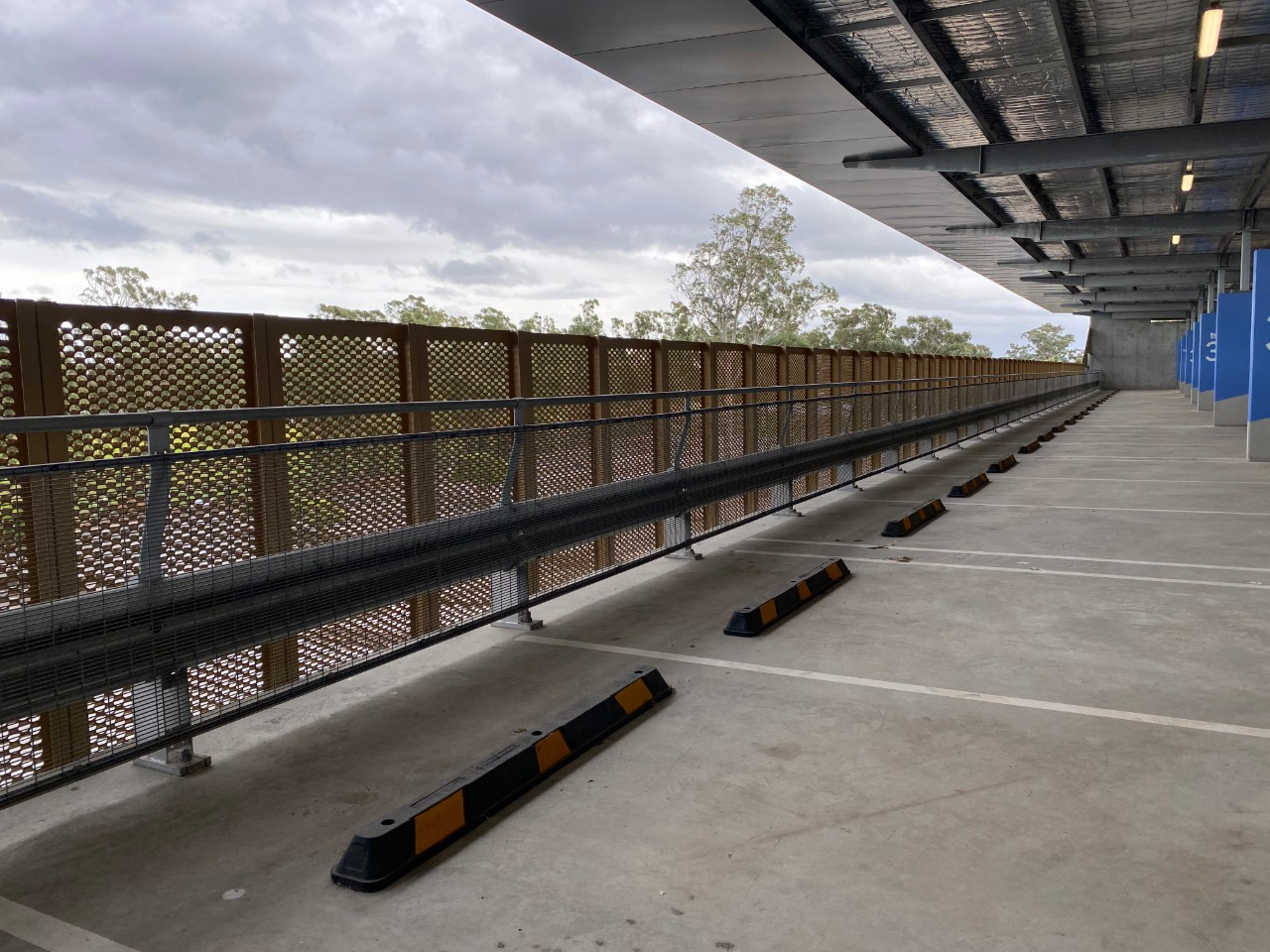 rooty hill car park fall protection with rhino stop safety barrier