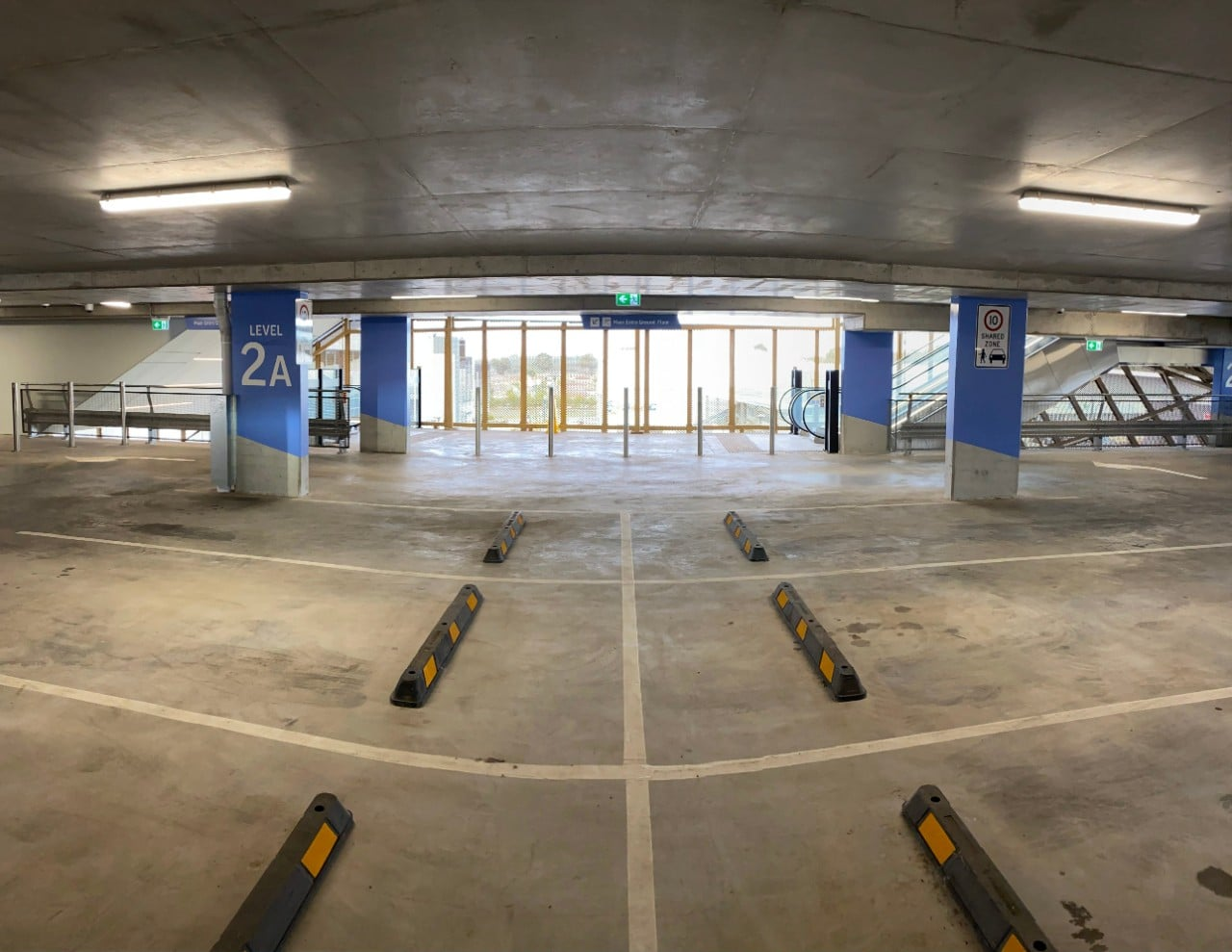 interior view of rooty hill rsl car park