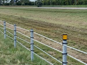 wire rope road safety barrier